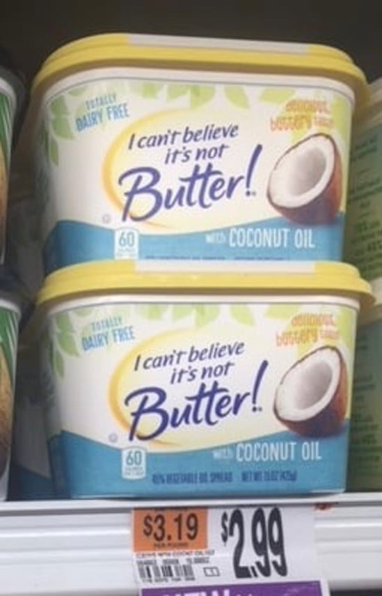 I Can t Believe It s Not Butter with Coconut Oil
