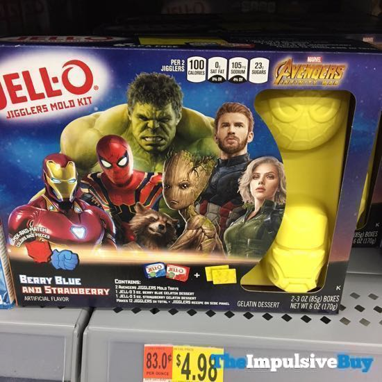 Jello Marvel Avengers Infinity War Jigglers Mold Kit