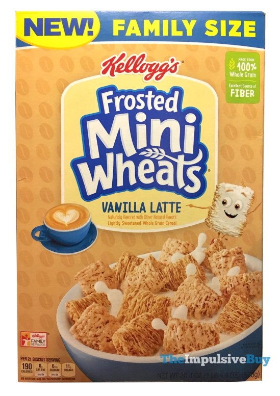 Kellogg s Frosted Mini Wheats Vanilla Latte Cereal