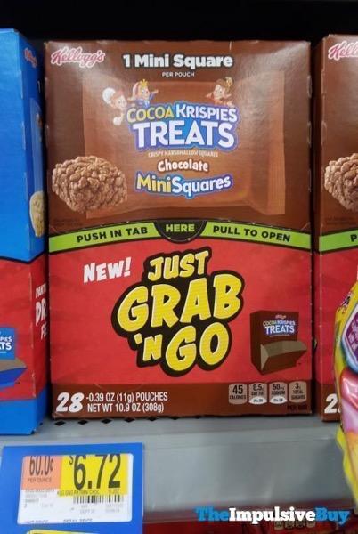 Kellogg s Just Grab  n Go Cocoa Krispies Treats Chocolate Mini Squares