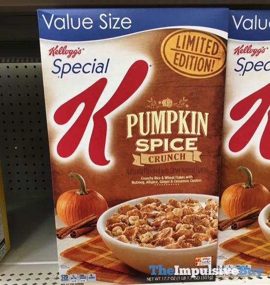 Kellogg s Special K Limited Edition Pumpkin Spice Crunch Cereal