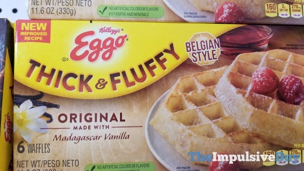 Kellogg s Thick  Fluffy New Improved Recipe Original Waffles
