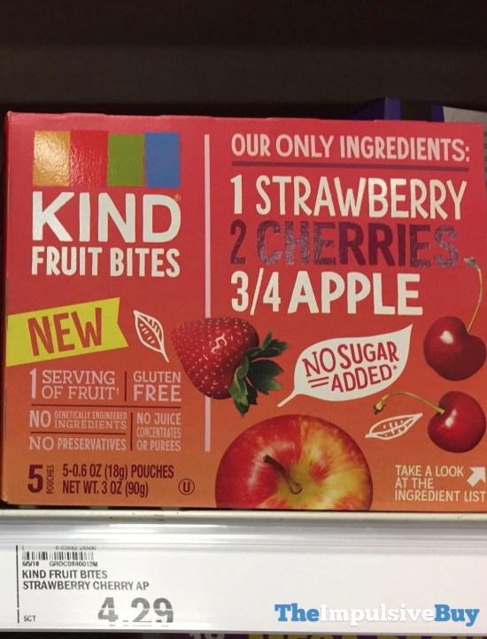 Kind Fruit Bites Strawberry Cherries Apple
