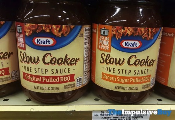 Kraft Slow Cooker One Step Sauce Original Pulled BBQ and Brown Sugar Pulled BBQ