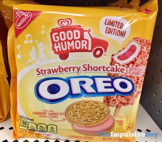 Limited Edition Good Humor Strawberry Shortcake Oreo Cookies