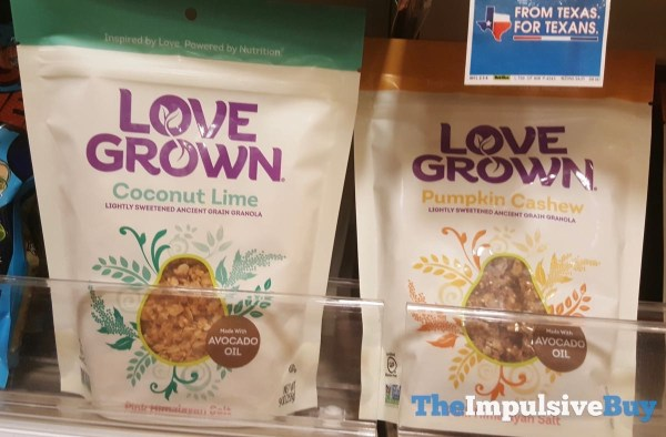 Love Grown Coconut Lime and Pumpkin Cashew Granola