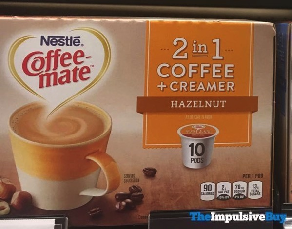 Nestle Coffee mate 2 in 1 Coffee + Creamer Hazelnut