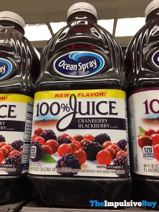 Ocean Spray 100 Juice Cranberry Blackberry