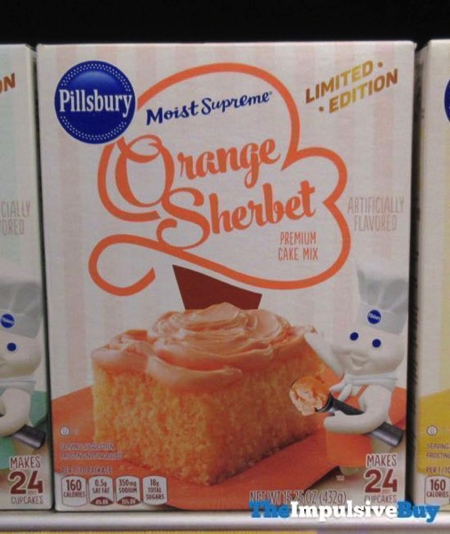 Pillsbury Limited Edition Moist Supreme Orange Sherbet Cake Mix