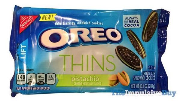 Pistachio Creme Oreo Thins Cookies