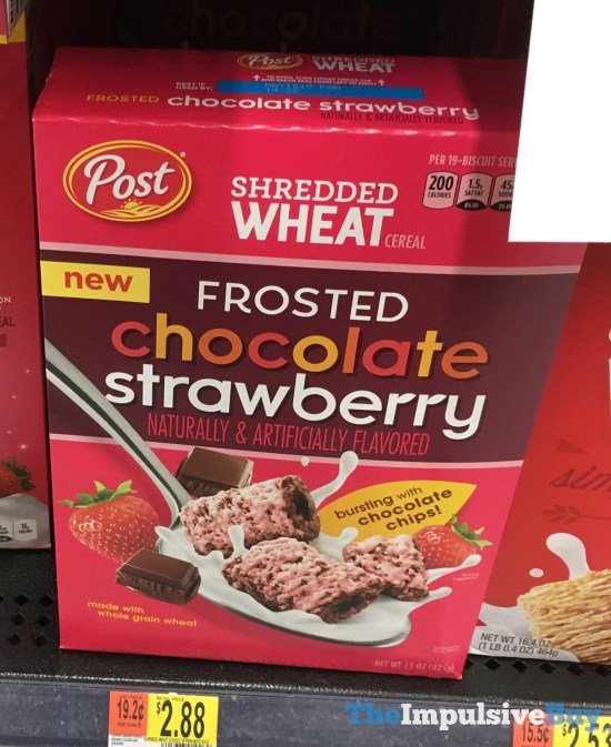 Post Frosted Chocolate Strawberry Shredded Wheat Cereal
