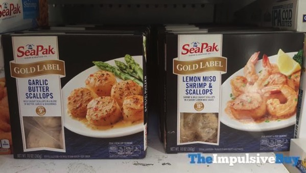 SeaPak Gold Label Garlic Butter Scallops and Lemon Miso Shrimp  Scallops