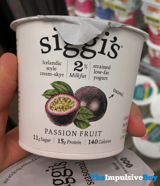 Siggi s Passion Fruit Icelandic Style Cream Skyr Low Fat Yogurt