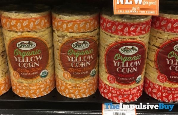 Sprouts Organic Yellow Corn Lightly Salted and Unsalted Corn Cakes