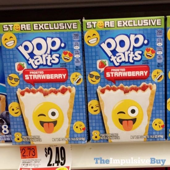 Store Exclusive Emoji Frosted Strawberry Pop Tarts