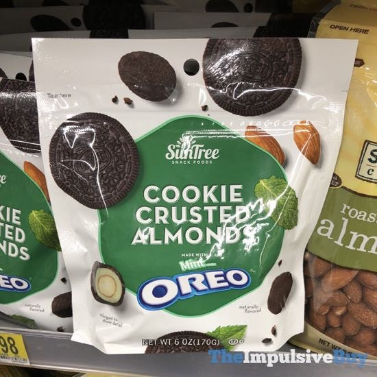 SunTree Cookie Crusted Almonds Made with Mint Oreo
