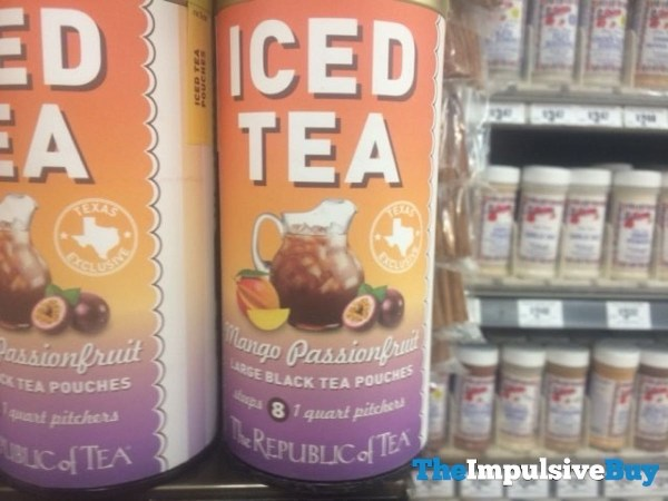 The Republic of Tea Mango Passionfruit Iced Tea Pouches