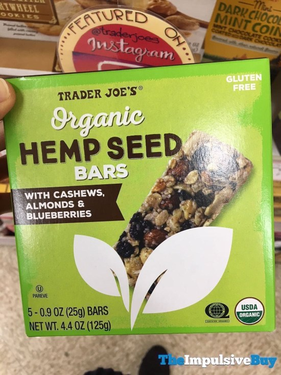 Trader Joe s Organic Hemp Seed Bars