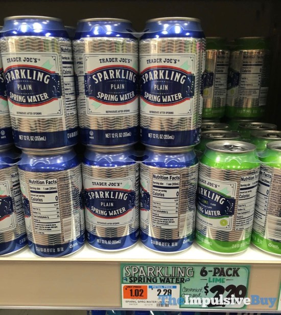 Trader Joe s Plain Sparkling Spring Water 6 Pack Cans