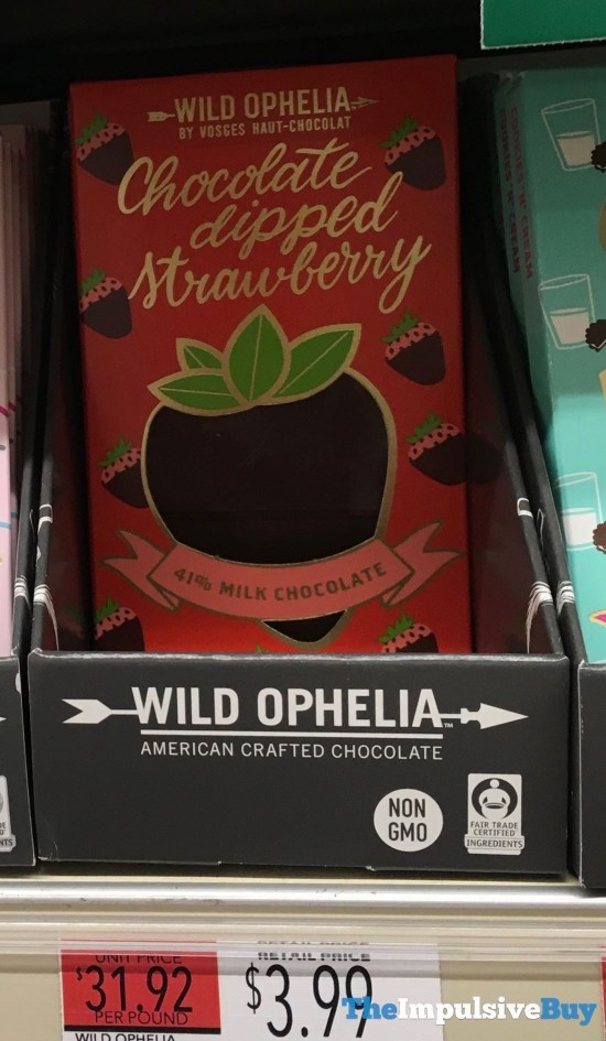 Wild Ophelia Chocolate Dipped Strawberry Bar  Version 2