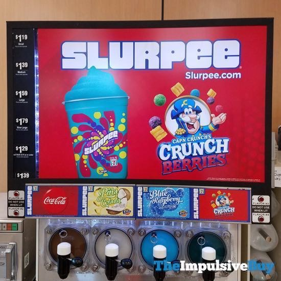7 Eleven Cap n Crunch s Crunch Berries Slurpee
