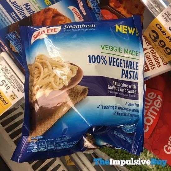 Birds Eye Steamfresh Veggie Made 100 Vegetable Pasta Fettuccine with Garlic  Herb Sauce