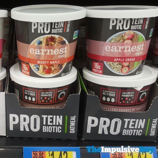Earnest Eats Mighty Maple and Apple Crush Protein Biotic Oatmeal