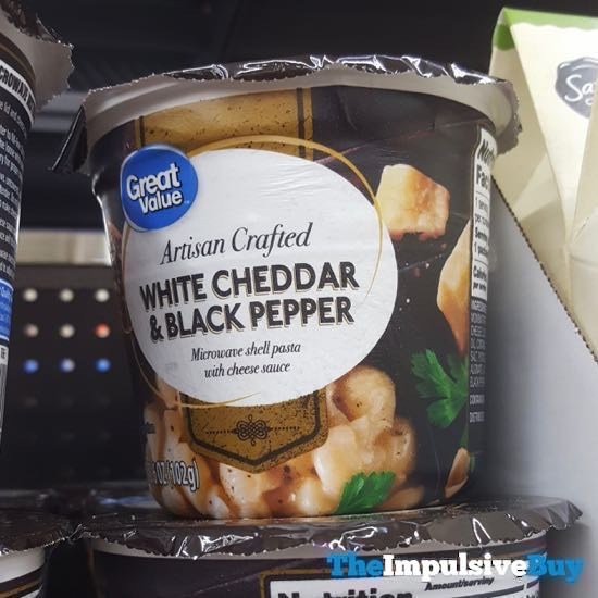Great Value Artisan Crafted White Cheddar  Black Pepper Shells  Cheese