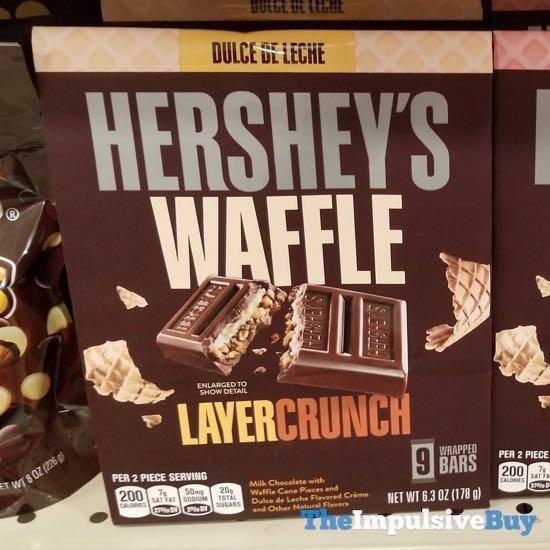 Hershey s Waffle Layer Crunch Dulce De Leche Bars