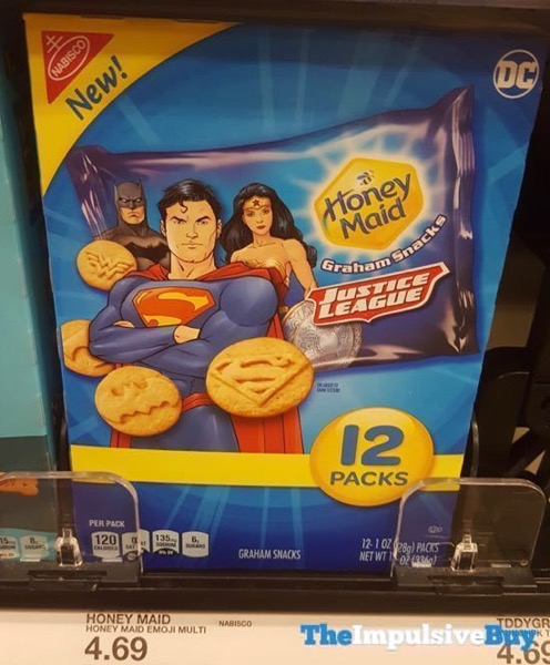 Honey Maid Justice League Graham Snacks 12 Pack