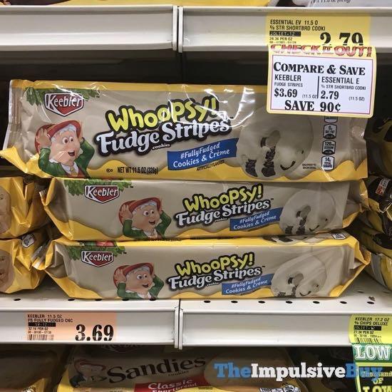 Keebler Cookies  Creme Whoopsy Fudge Stripes Cookies