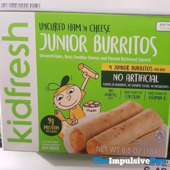 Kidfresh Uncured Ham  n Cheese Junior Burritos