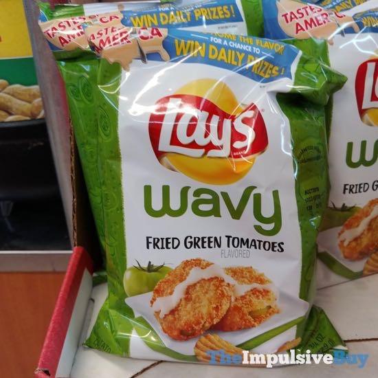 Lay s Wavy Fried Green Tomatoes Potato Chips