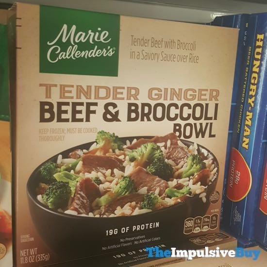 Marie Callender s Tender Ginger Beef  Broccoli Bowl
