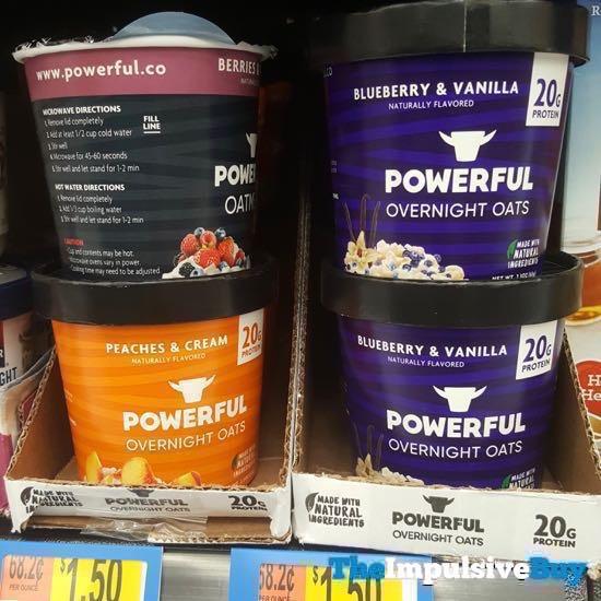 Powerful Overnight Oats  Peaches  Cream and Blueberry  Vanilla