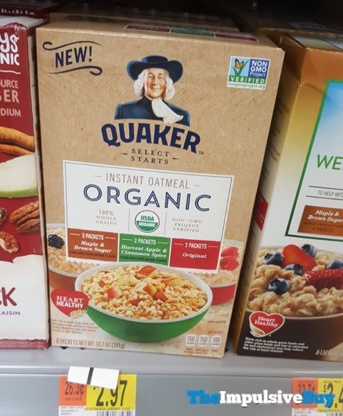 Quaker Select Starts Organic Instant Oatmeal Multi Pack
