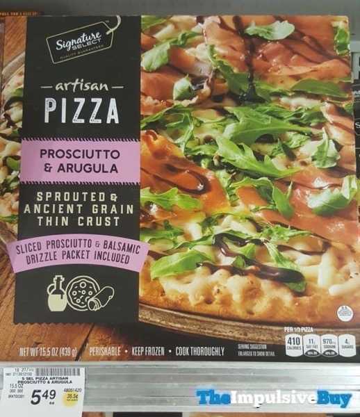 Safeway Signature Select Prosciutto  Arugula Artisan Pizza