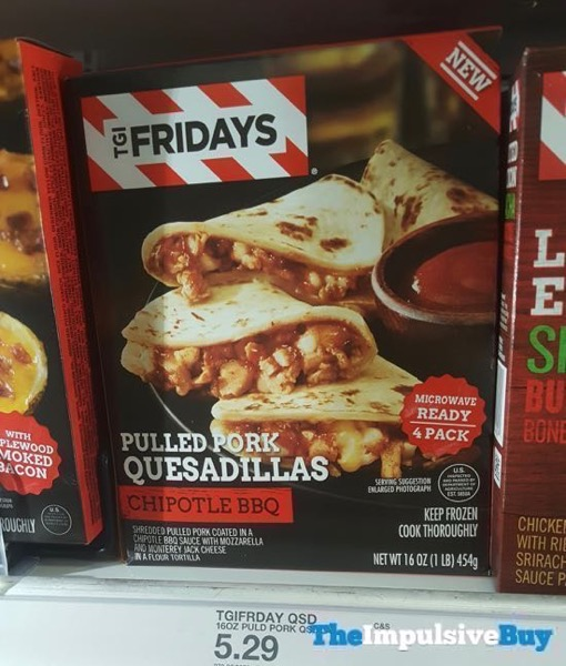 TGI Fridays Chipotle BBQ Pulled Pork Quesadillas