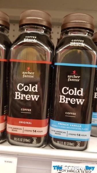 Archer Farms Cold Brew Coffee Black  Original and French Vanilla