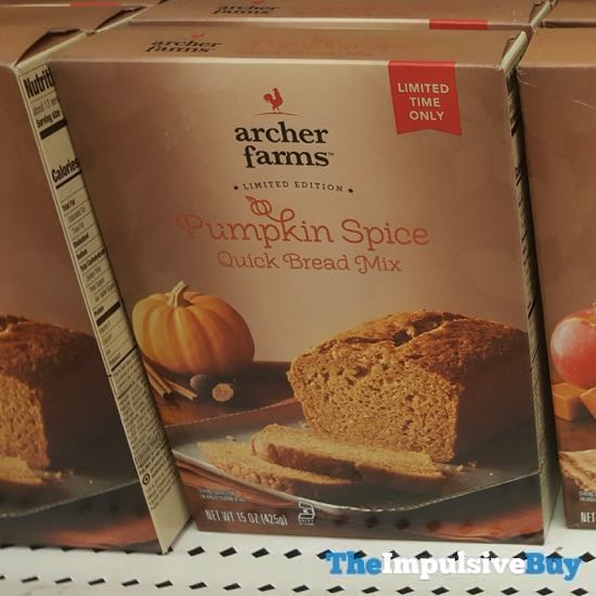 Archer Farms Limited Edition PUmpkin Spice Quick Bread Mix