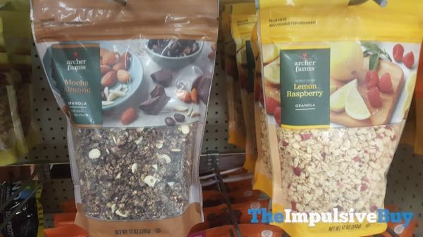 Archer Farms Mocha Almond and Lemon Raspberry Granola