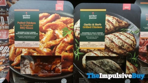 Archer Farms Pulled Chicken Original BBQ Sauce and Garlic  Herb Grilled Chicken