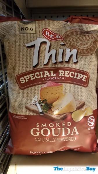 H E B Thin Special Recipe Flavor No 6 Smoked Gouda Potato Chips
