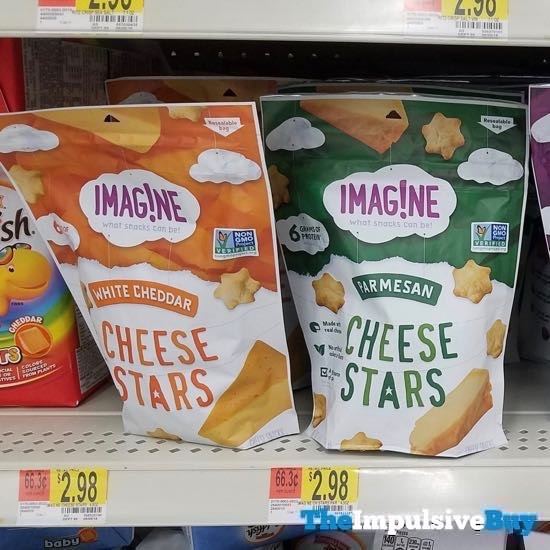 Imagine Cheese Stars  White Cheddar and Parmesan