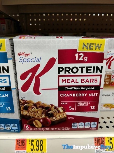 Kellogg s Special K Cranberry Nut Protein Meal Bars