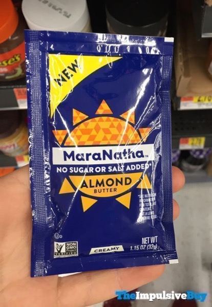 MaraNatha No Sugar or Salted Added Creamy Almond Butter Squeeze Pack