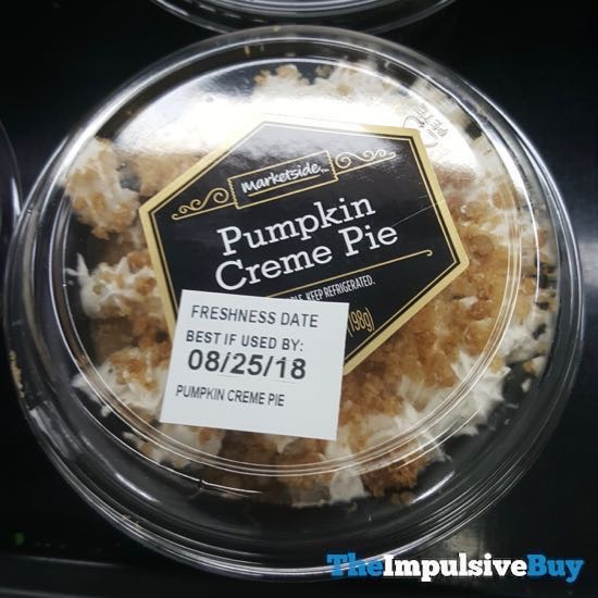 Marketside Pumpkin Creme Pie