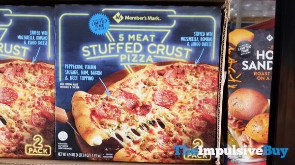 Member s Mark Seasonal Limited Time 5 Meat Stuffed Crust Pizza