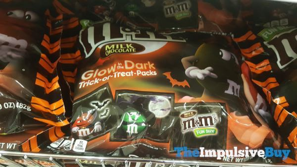 Milk Choocolate M M s in Glow in the Dark Trick or Treat Packs