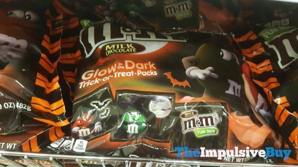 Milk Choocolate M M s in Glow in the Dark Trick or Treat Packs